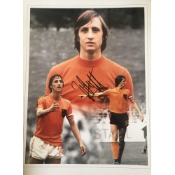 Johan Cruyff Holland montage 16x12 signed photo