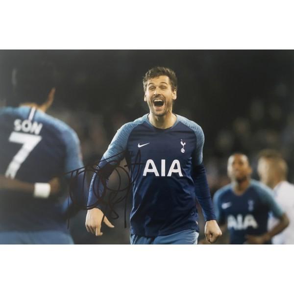 Fernando Llorente signed 12x8 Tottenham photo image D
