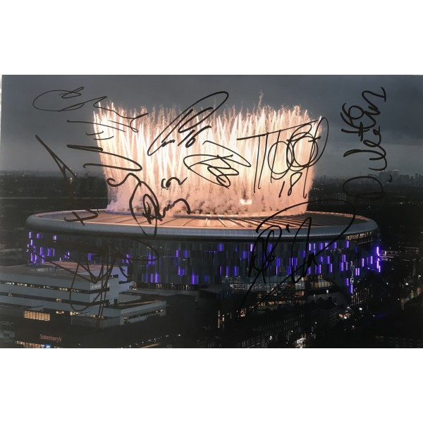 Tottenham multi signed 12x8 photo signed by some of squad 2018/19 version 3