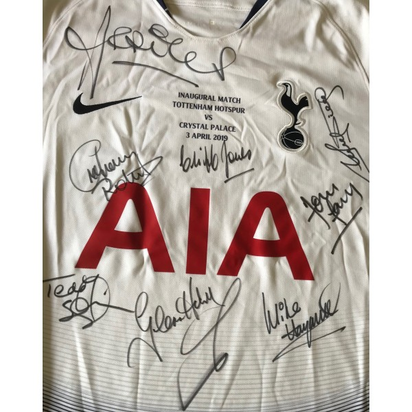 Tottenham multi signed legends inaugural match signed by several club legends 2019