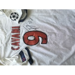 Edison Cavani signed PSG Authentic shirt (player issued minimum)