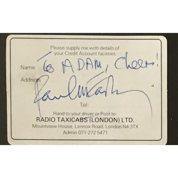 Paul McCartney (The Beatles) signed full signature dedicated to Adam