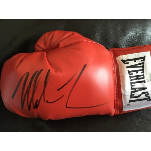 Mike Tyson signed boxing glove black pen