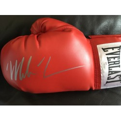 Mike Tyson signed boxing glove silver pen