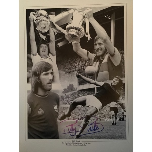 Billy Bonds 16x12 black and white montage 1 (4 photos in montage)