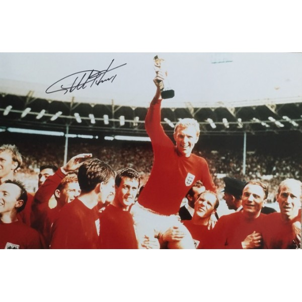 Geoff Hurst  signed 18x12 England 1966 photo