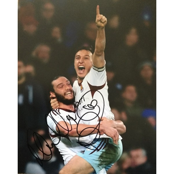 Andy Carroll & Mark Noble signed 10x8 West Ham photo