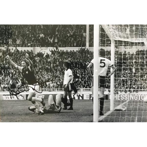 Alan Taylor signed 12x8 West Ham colour photo