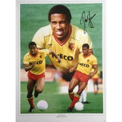 John Barnes signed 16x12 Watford montage photo (portrait version no 2)