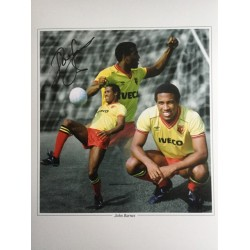 John Barnes signed 16x12 Watford montage photo (portrait)