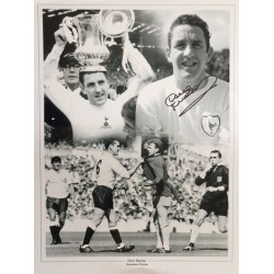 Dave Mackay signed 16x12 montage photo