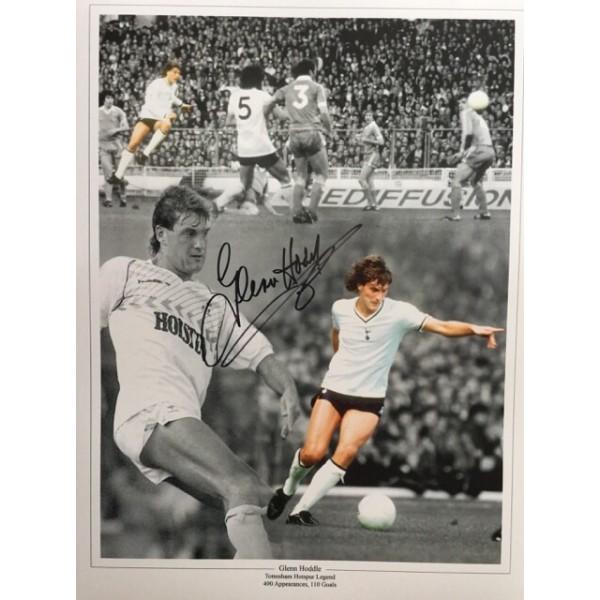 Glenn Hoddle signed 16x12 Tottenham montage photo