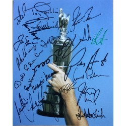 Open Golf multi signed photo by Open Champions