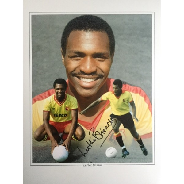 Luther Blissett signed 16x12 Watford montage photo (portrait)