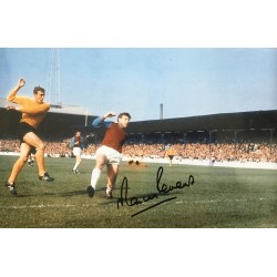 Martin Peters signed 12x8 West Ham colour photo