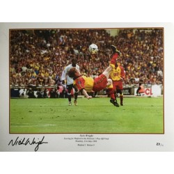 Nick Wright signed Watford 16x12 photo 1999 overhead kick