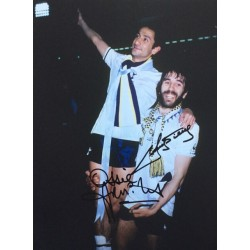 Ossie Ardiles and Ricky Villa signed Tottenham 1981 FA Cup photo