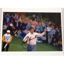 Seve Ballesteros signed colour photo