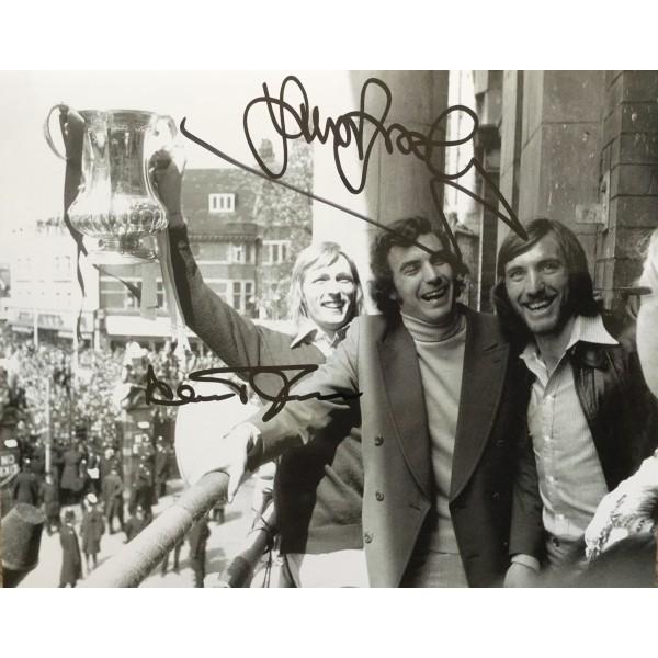 Alan Taylor , Billy Bonds & Trevor Brooking signed 10x8 West Ham photo