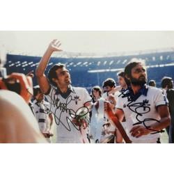 Trevor Brooking & Frank Lampard senior signed 10x8 West Ham photo