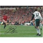 Eric Cantona signed 16x12 Manchester United photo ( FA Cup Final )