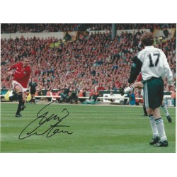 Eric Cantona signed 16x12 Manchester United photo ( FA Cup Final )