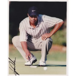 Tiger Woods signed 10x8 colour photo IN PERSON WENTWORTH CISCO MATCHPLAY