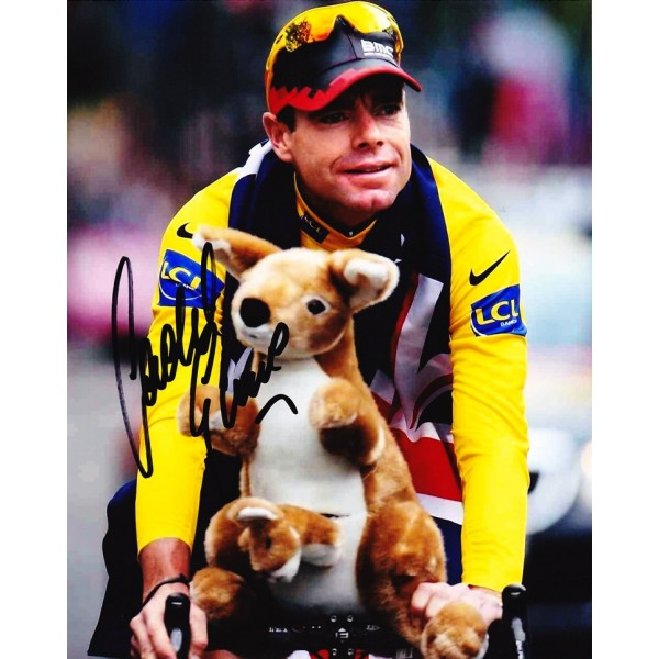 Cadel Evans signed 10x8 Image A Tour de France photo