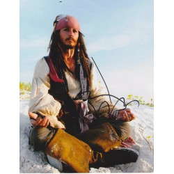Johnny Depp signed Pirates of the Caribbean signed 10x8 photo Im