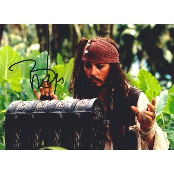 Johnny Depp Image B Pirates signed 10x8 colour photo