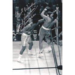 Smokin' Joe Frazier signed Best wishes 12x8 photo
