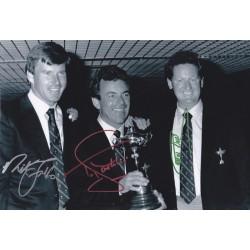 Nick Faldo , Tony Jacklin & Eamon Darcy triple signed 12x8 photo
