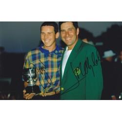 Jose Maria Olazabal & Sergio Garcia signed 12x8 photo