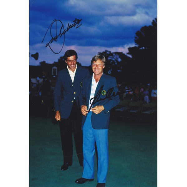 Seve Ballesteros & Ben Crenshaw signed 12x8 colour photo