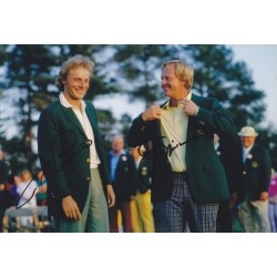 Jack Nicklaus & Bernhard Langer signed 12x8 photo
