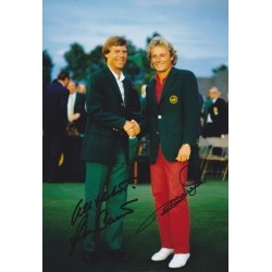 Ben Crenshaw & Bernhard Langer signed 12x8 photo