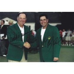 Mark O'Meara & Jose Maria Olazabal signed 12x8 photo