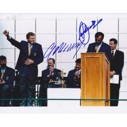 Seve Ballesteros and Colin Montgomerie signed 10x8 photo