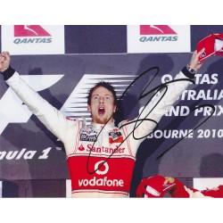 Jenson Button Image B signed 10x8 colour photo