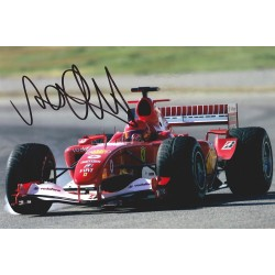 Valentino Rossi signed 12x8 Ferrari rare photo