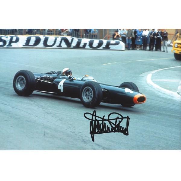 Jackie Stewart signed 12x8 colour photo