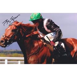 Jamie Spencer signed colour photo