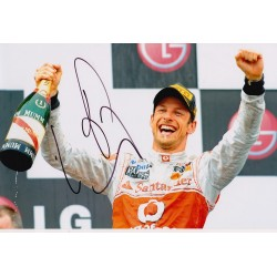 Jenson Button signed 12x8 colour photo