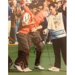Seve Ballesteros and Jose Maria Olazabal signed photo
