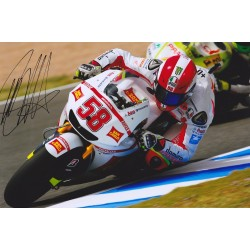 Marco Simoncelli signed 12x8 photo
